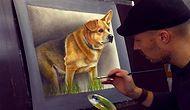 Aşırı Gerçekçi 3 Boyutlu Köpek Çizimi
