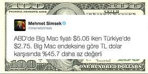 Mehmet Şimşek'in Twitter'da Yaptığı Big Mac Hesabına Sosyal Medyanın Tepkileri