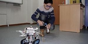 13 Yaşındaki Çocuk İtfaiyecileri Korumak İçin 'Robo İtfaiye' Tasarladı