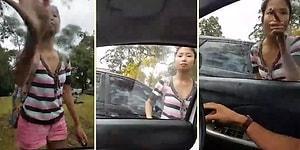 Başortüsü Var Diye Araç İçindeki Kadına Terörist Diyerek Saldıran Asyalı Kadın
