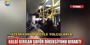 Kalbi Kırılan Halk Otobüsü Şoförü Yolcuları İndirdi