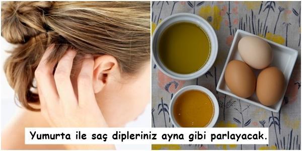 Kuruyan Saç Diplerinizi Yumuşatıyoruz! Kepek Sorununuza Çözüm Olacak 13 Doğal Maske