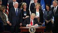 Dediğini Yaptı: Trump, Meksika Sınırına Duvar Örülmesine İlişkin Kararı İmzaladı