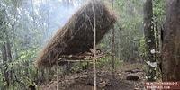 Doğada Tek Başına Yaşayan Gerçek Survivor'dan Yatak Yapımı