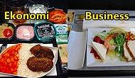 19 Hava Yolu Firmasının Birinci Sınıf ve Ekonomi Sınıfı Yemekleri Arasındaki Fark