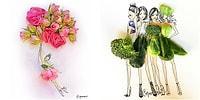 Çizimlerinde Çiçekleri ve Sebzeleri Kullanan Sürreal Modacıdan 12 Harika Çizim