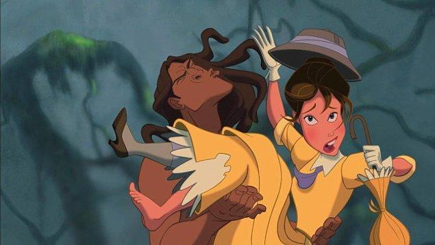 7. Tarzan'ın ve Jane'in yüzleri gayet tuhaf değil mi?