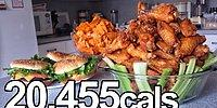 Superbowl Süresince 20,000 Kalorilik Yiyeceği Mideye İndiren Adam