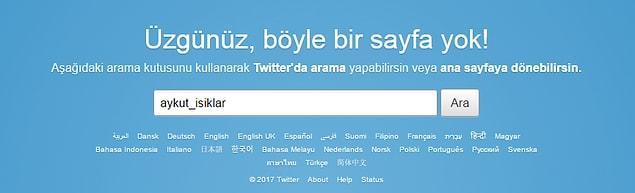 Işıklar son olarak da Twitter hesabını kapattı