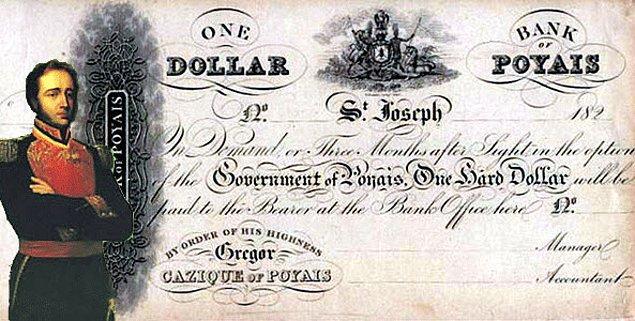McGregor kendi ülkesinin parası olduğunu iddia eden bir banknotu bile ortaya sürmüştü.