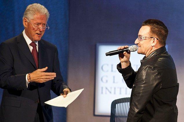 13. Bono (U2) & Bill Clinton