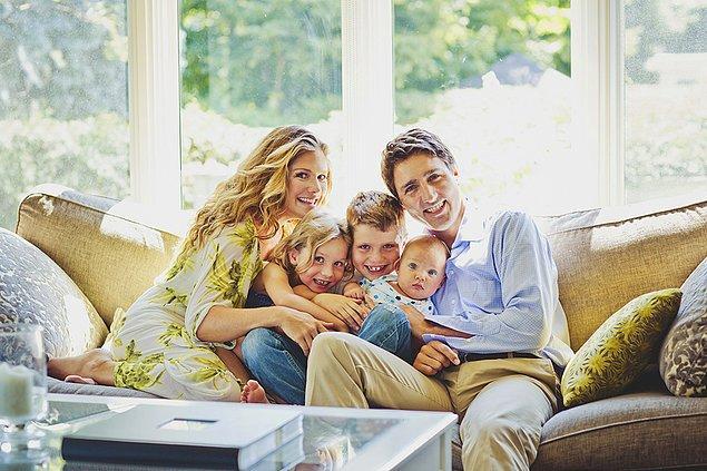 Trudeau yakışıklı bir erkek ve başarılı bir politikacı olmasının yanında aynı zamanda iyi bir baba ve koca...
