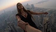 Hem Güzel Hem Çılgın! Yüzlerce Metre Yükseklikte Tehlikeli Fotoğraf Çekimi Gerçekleştiren Rus Model