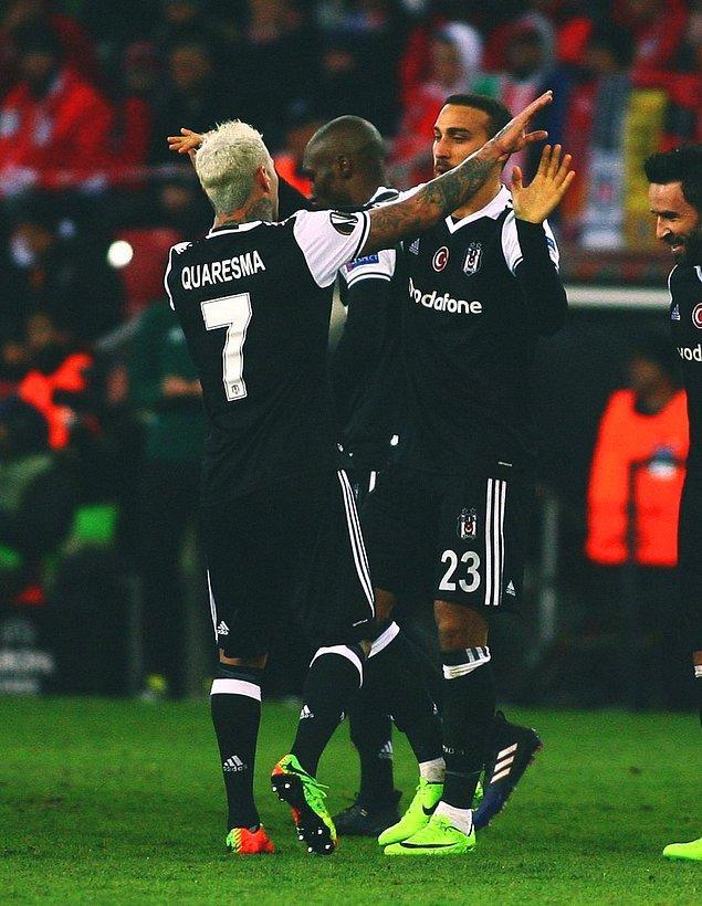 GOL! (42') William Soares (kk)   Hapoel Beer Sheva 0-1 Beşiktaş