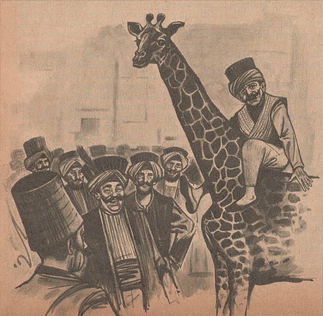 Bazı ağalar Abdi Bey'in korktuğunu anlayarak 'bu çok mübarek hayvandır, tutup gezdiren Müslüman çok sevap kazanır' demeye başladılar.