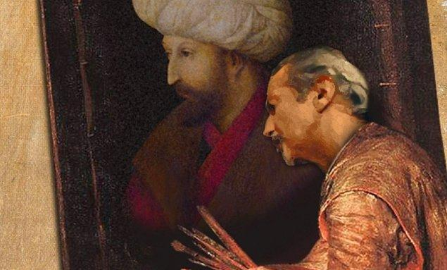 12. Gentile Bellini'nin çizdiği Fatih Sultan Mehmed portresi aslıyla pek uyumlu değil...