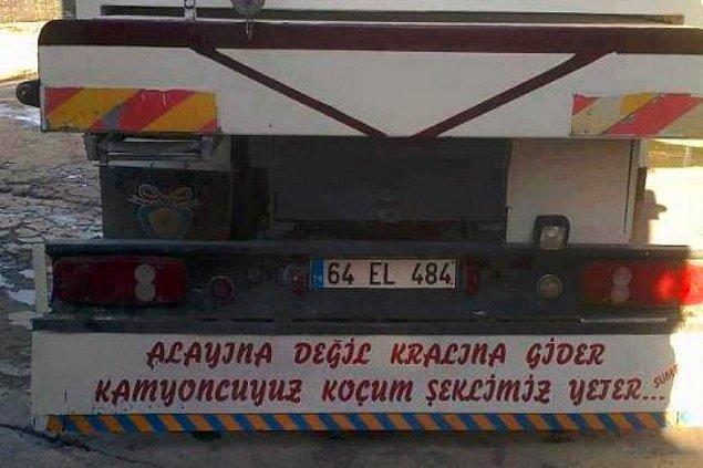 2. Neşeli bir giriş yapalım; bir kamyon arkası yazısı seç!