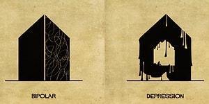 Psikolojik Rahatsızlıkların Tadilat Gerektiren Binalar Olarak Yansıtıldığı 16 İllüstrasyon