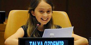 Birleşmiş Milletler'deki Konuşmasıyla Alkış Yağmuruna Tutulan 11 Yaşındaki Talya Özdemir