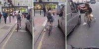 Araç İçinden Saçma Sapan Konuşan Adama En Güzel Şekilde Dersini Veren Bisikletli Kadın