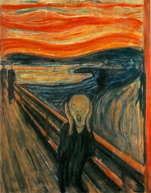 """11. """"Scream"""" adlı eserdeki gökyüzü"""