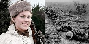 En Az 59 Kişinin Canını Almış 19'luk Sovyet Ölüm Meleği: Roza Shanina