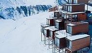 Gürcistan'da Deniz Seviyesinden 2200m Yüksekte Konteynerlerle Yapılmış Dağ Oteli