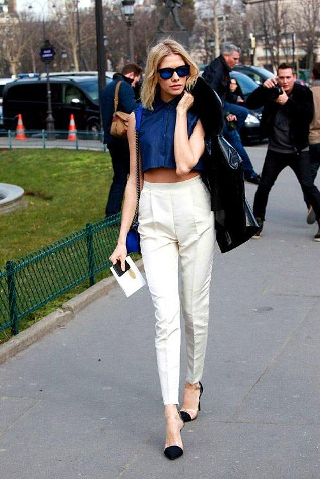 2. Yüksek bel pantolon