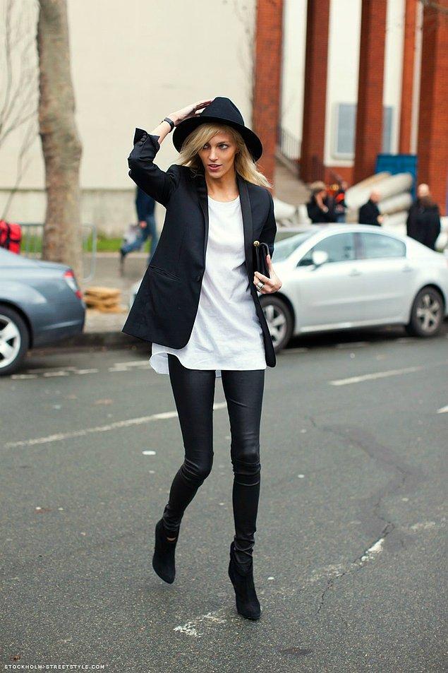 7. Siyah klasik blazer