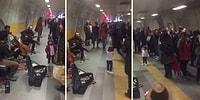 Metro Müzisyenlerine Bale Yaparak Eşlik Eden Dünya Tatlısı Ufaklık