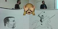 Derste Sıkılan Öğrencinin Her Hafta Öğretmenini Şekilden Şekle Soktuğu Çizimleri