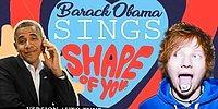 Barack Obama'ya Demeçlerinden 'Shape of You' Şarkısını Söylettiler