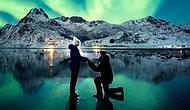 Kız Arkadaşına Kuzey Işıklarının Altında Evlenme Teklifi Edip Ağzımızı Açık Bırakan Fotoğrafçı