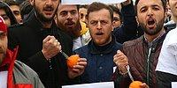 Hollanda'yı Protesto Etmek İçin Portakal Sıktılar!