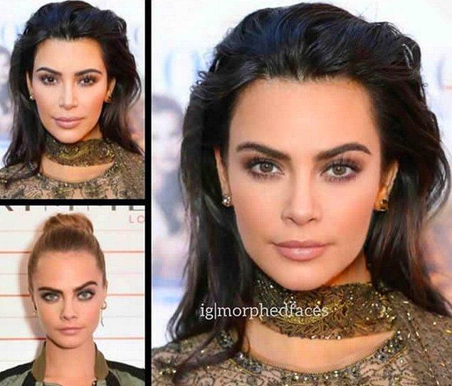 11. Kim Kardashian ve Cara Delevingne