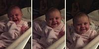 Kamerayı Görünce Ağlamayı Bırakıp Gülmeye Başlayan Sevimli Bebek