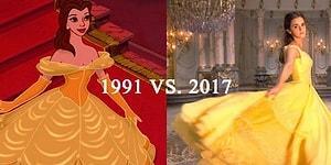 'Beauty and the Beast'in 1991 ve 2017 Yapımlarının Sahne Sahne Karşılaştırılması