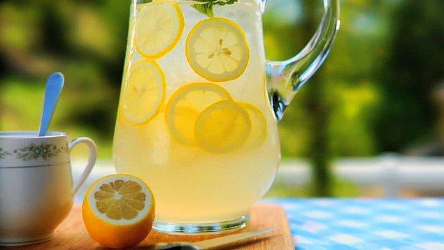 1. Limon+Limon Kabuğu+Toz Şeker+Su+Buz