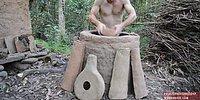 Doğada Tek Başına Yaşamanın Şifrelerini Çözen Adamdan Çanak Çömlek Yapımı