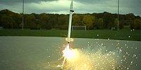 Ağır Çekim Görüntülerle Bir Roketin Fırlatılma Anı