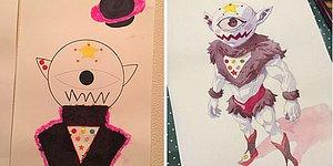Çocuklarının Rastgele Çizimlerinden Muazzam Animeler Yaratan Sanatçı Babadan 12 Çalışma