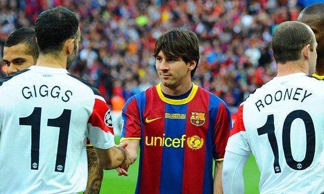7. Messi, Ryan Giggs'in kariyeri boyunca kazandığı kupa sayısı olan '36'yı geçemedi. Arjantinli yıldız kariyeri boyunca 30 kez farklı kulvarlarda kupa kaldırdı.