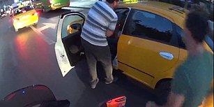 Birbirinizi Yiyin Ete Para Vermeye Gerek Yok! Taksiciye Saldıran Dolmuş Şoförü