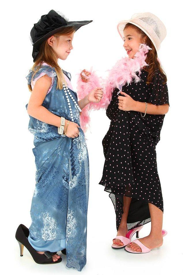17. Kendinizi çocuk reyonundan giyinirken bulursunuz.