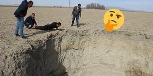 Konya'da Neler Oluyor? Yine Obruk Oluştu, Çiftçiler Tedirgin: 'Allah Sonumuzu Hayır Etsin'