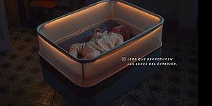 Araba Dışında Uykuya Dalmayan Bebekler İçin Düşünülmüş Beşik