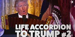 Donald Trump'ın Yerinde Durmayan Ellerine Akordeon Yerleştirilirse