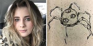 17 Yaşında Şizofreni Teşhisi Konan Genç Kadının İç Dünyasını Yansıtmak İçin Çizdiği Resimler