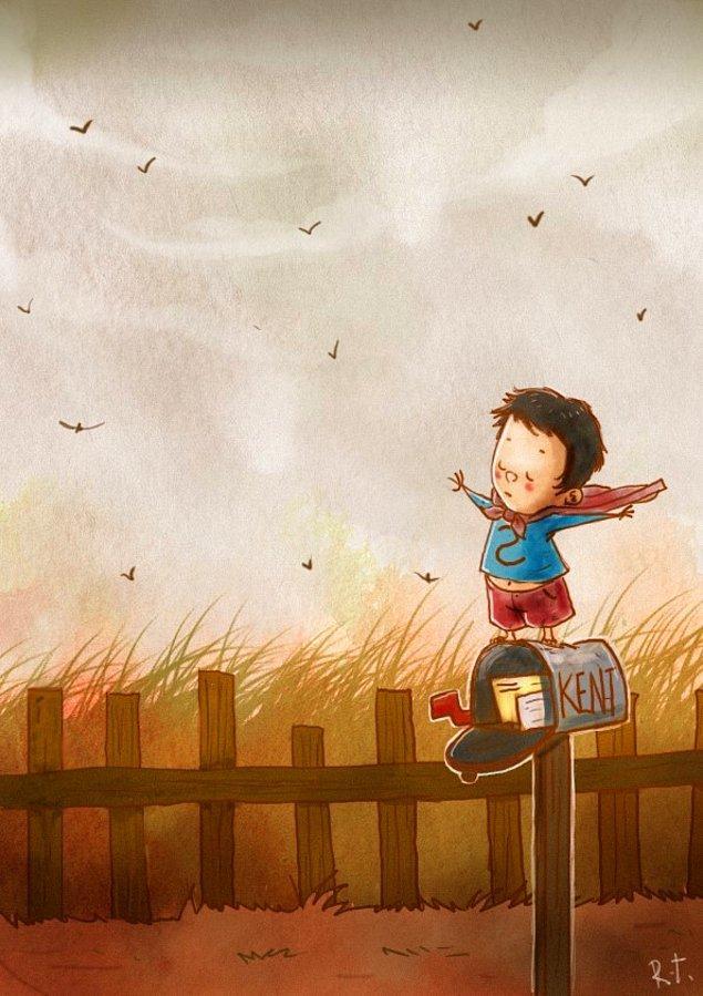 8. Çocukluk kahramanlarının da birer çocuk olduğunu hayal etmek çok güzel değil mi?