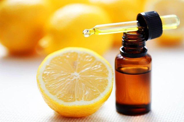 7. Limondan ev yapımı yüz toniği!